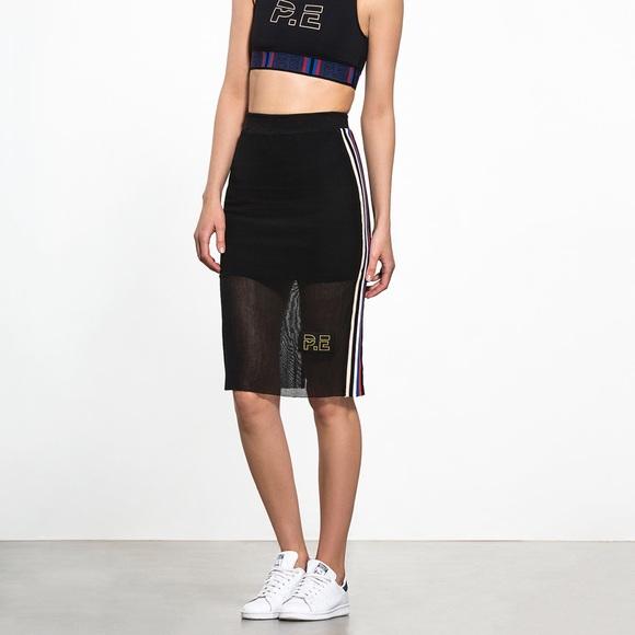 Mesh Athleisure Racing Skirt